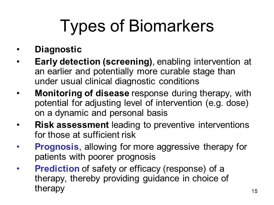 Types of Biomarkers Diagnostic