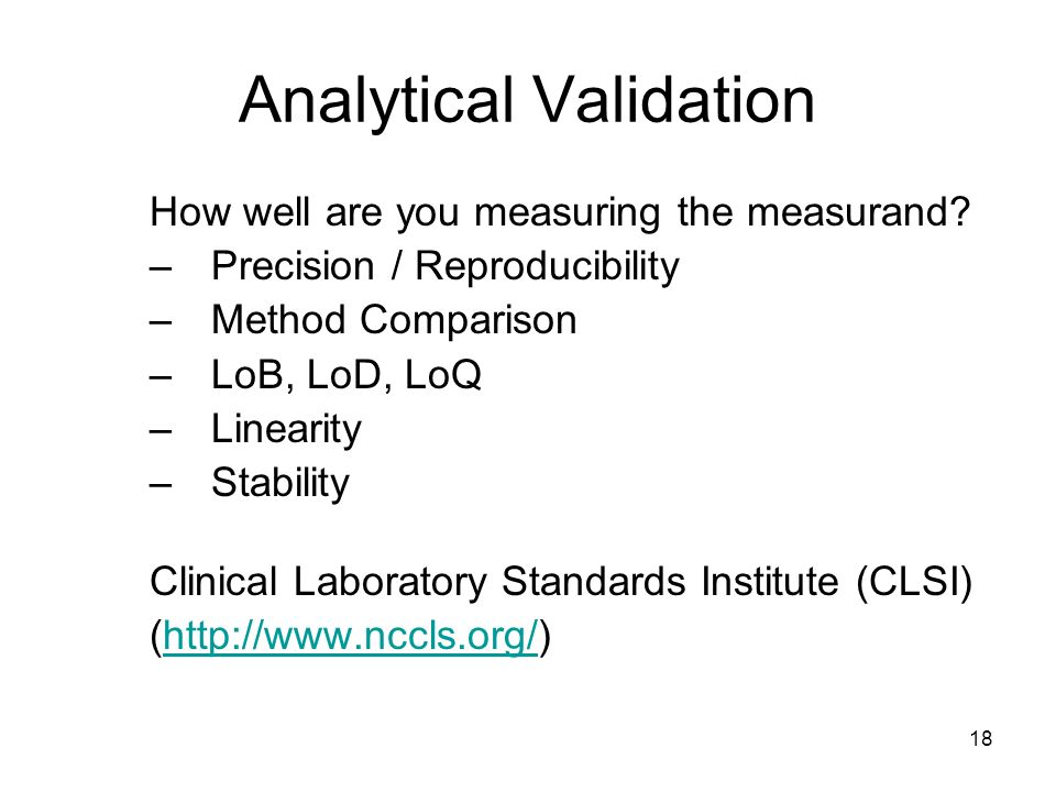 Analytical Validation
