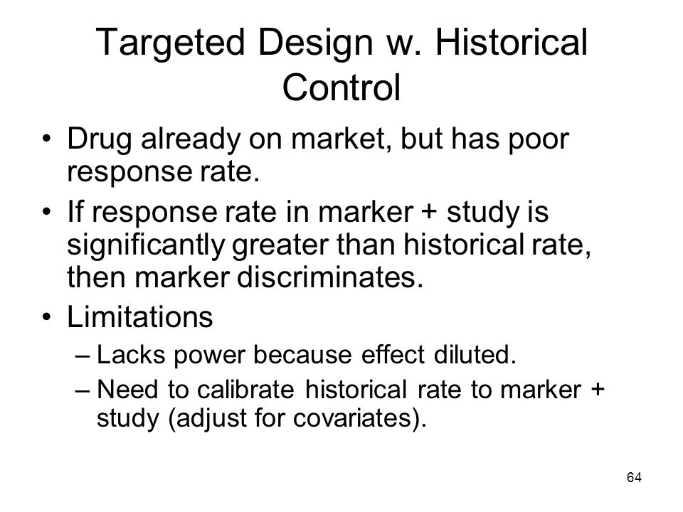 Targeted Design w. Historical Control
