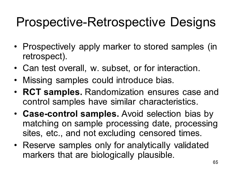 Prospective-Retrospective Designs