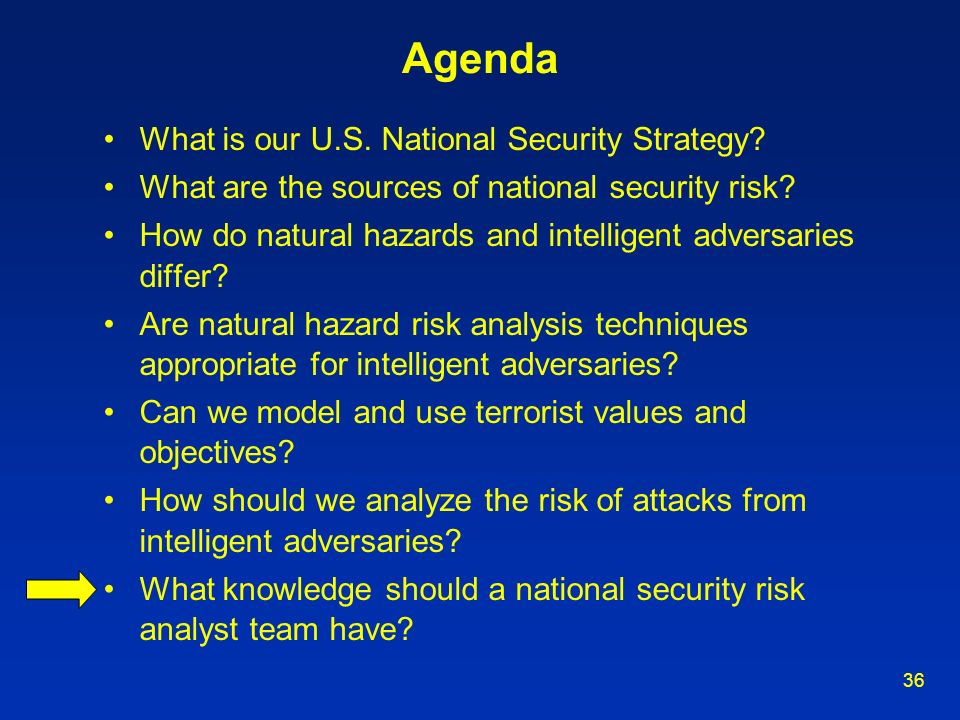 Agenda What is our U.S. National Security Strategy