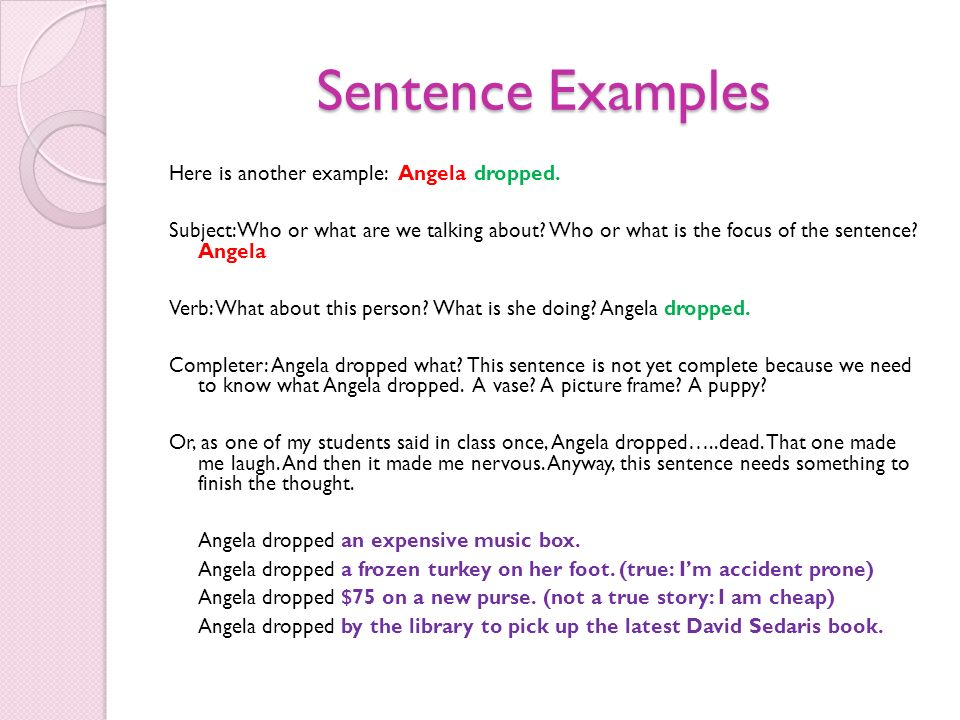 List of Synonyms and Antonyms of the Word: sentence examples