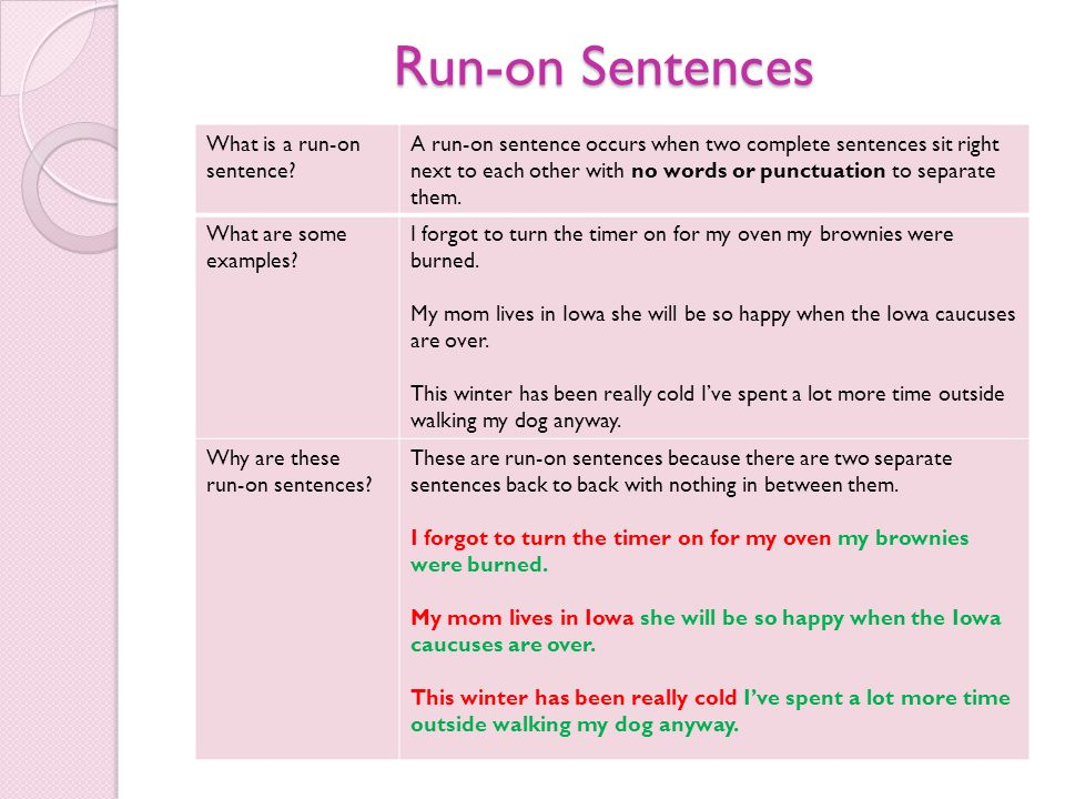 What Are Run On Sentences Radiotodorock