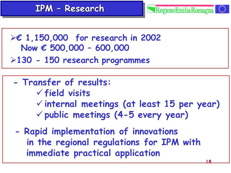 internal meetings (at least 15 per year)