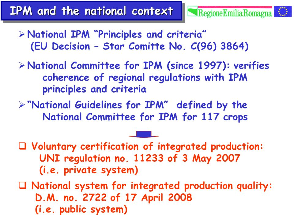 IPM and the national context