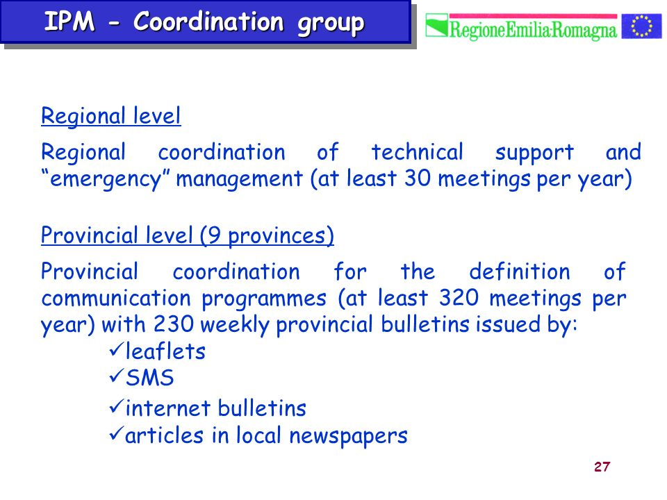 IPM - Coordination group