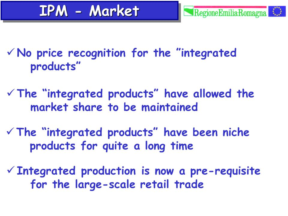 IPM - Market No price recognition for the integrated products