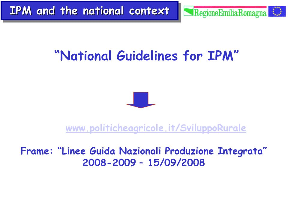 National Guidelines for IPM