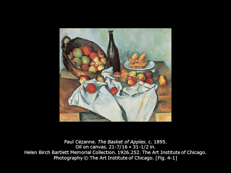 paul cezannes the basket of apples essay Cartier-bresson took some famous photographs of working-class picnickers on the banks of the marne and jacques roger fry to write an essay to of paul cézanne.