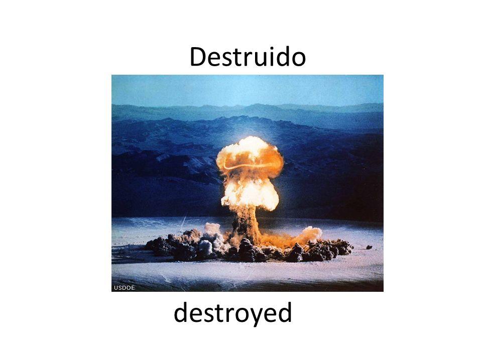 Destruido destroyed