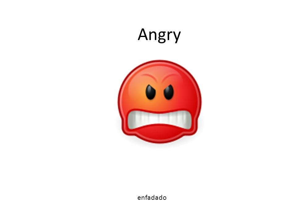 AngAn Angry enfadado