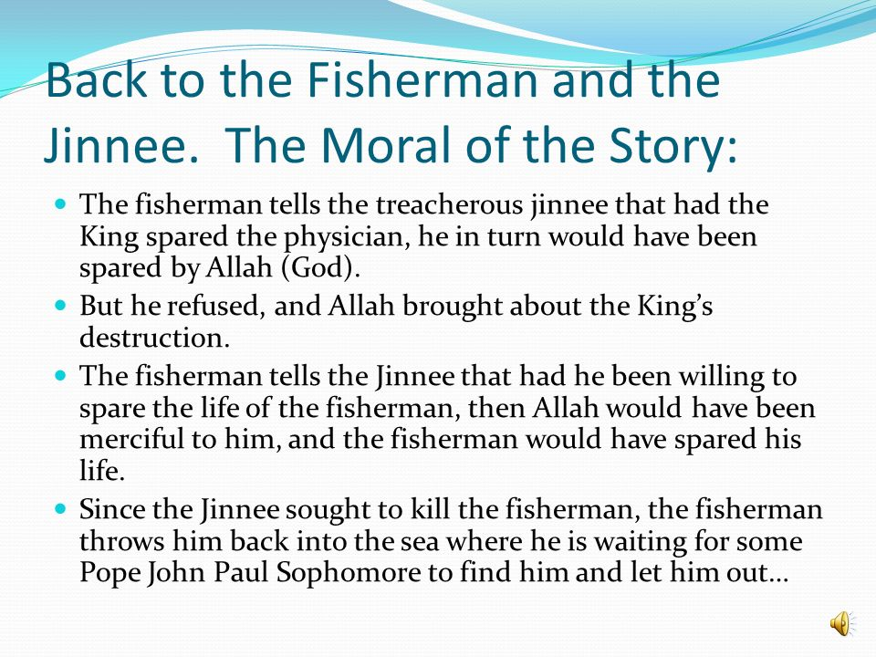 the fisherman and the jinnee summary
