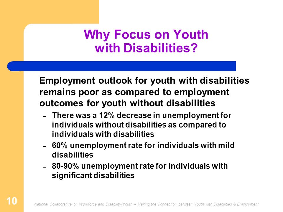 Why Focus on Youth with Disabilities