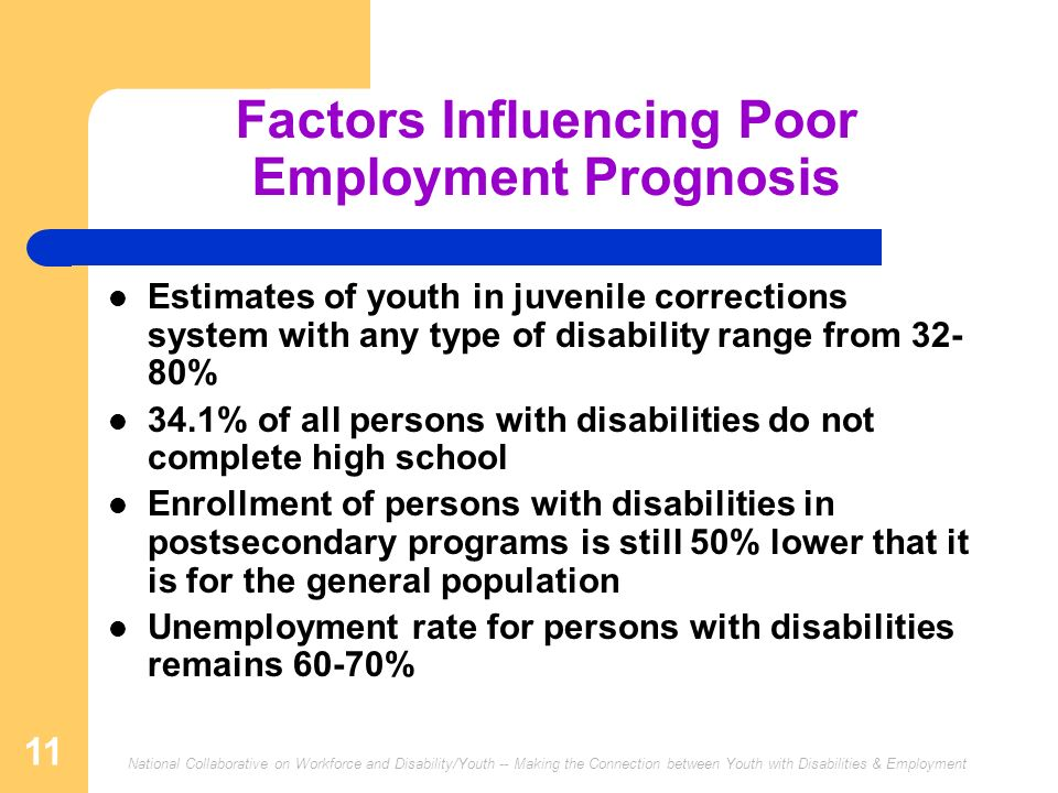 Factors Influencing Poor Employment Prognosis