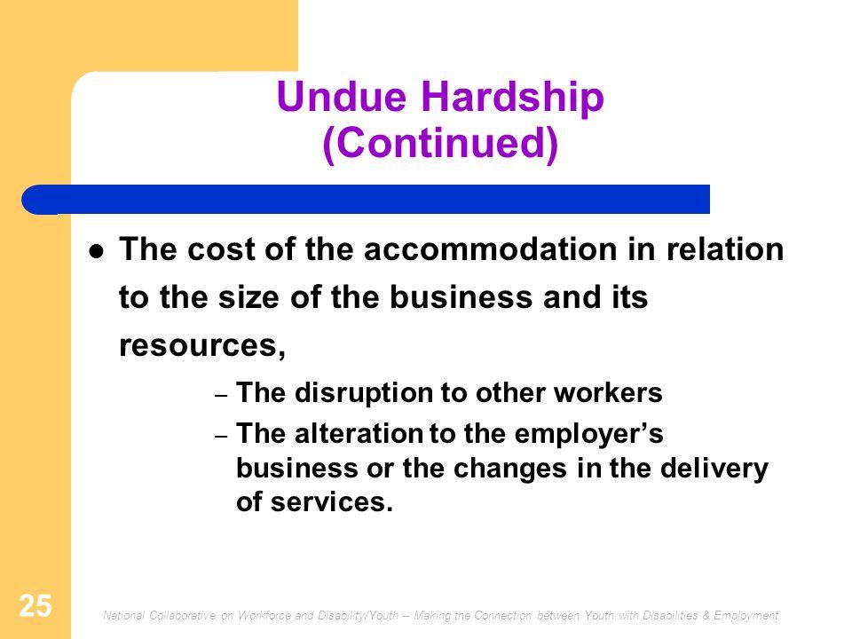 Undue Hardship (Continued)