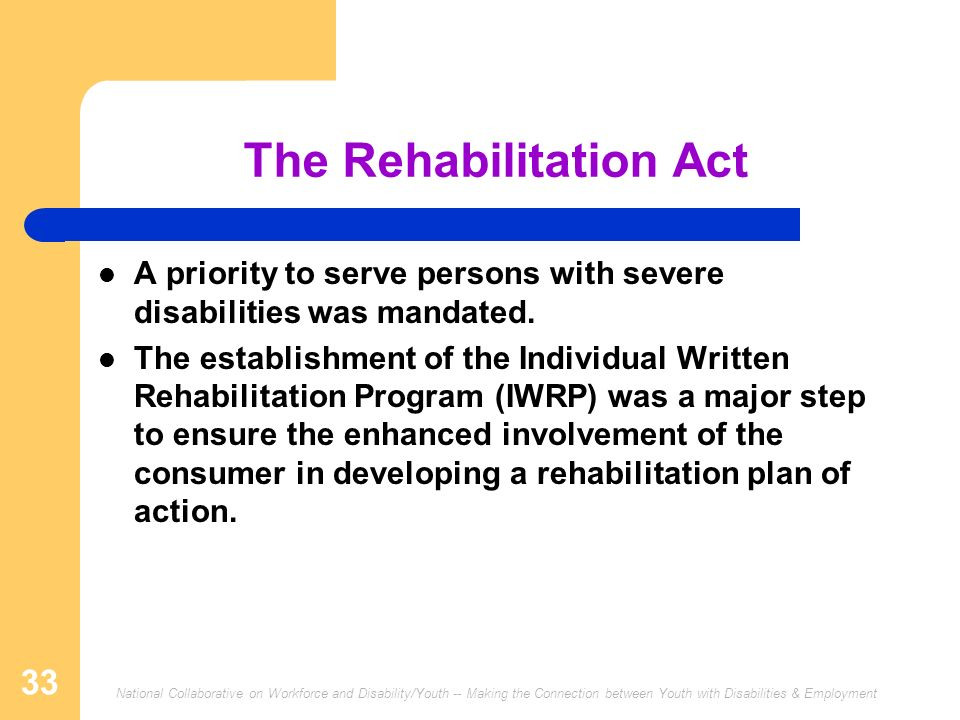 The Rehabilitation Act