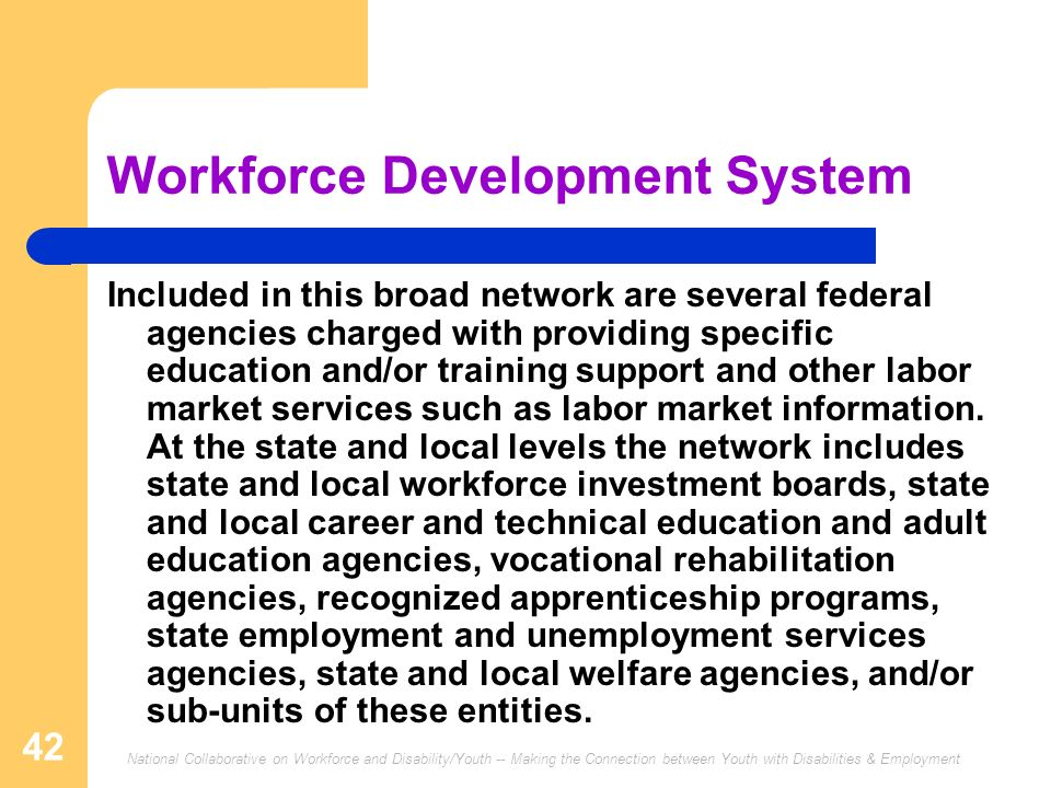 Workforce Development System