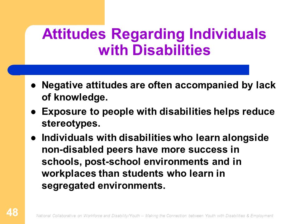 Attitudes Regarding Individuals with Disabilities