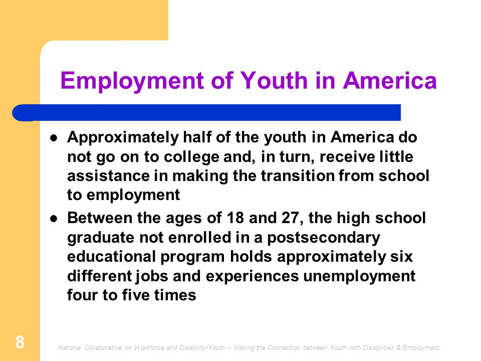 Employment of Youth in America
