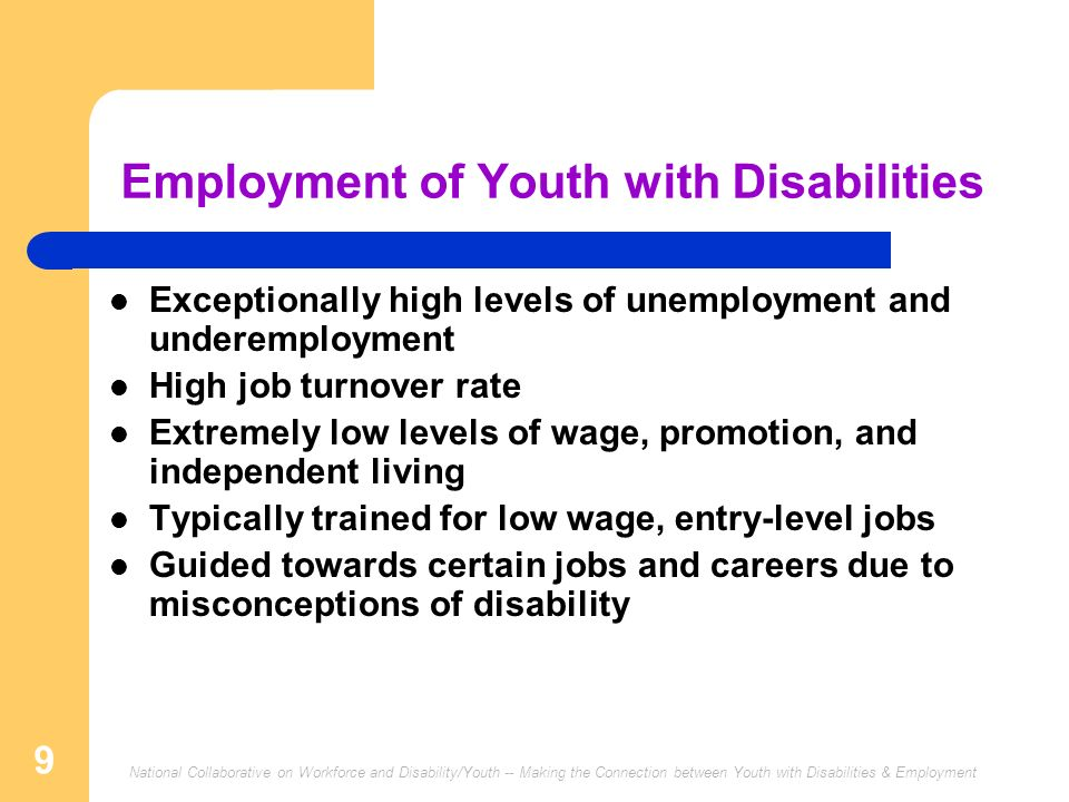 Employment of Youth with Disabilities