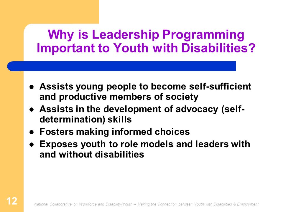 Why is Leadership Programming Important to Youth with Disabilities