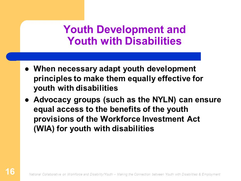 Youth Development and Youth with Disabilities