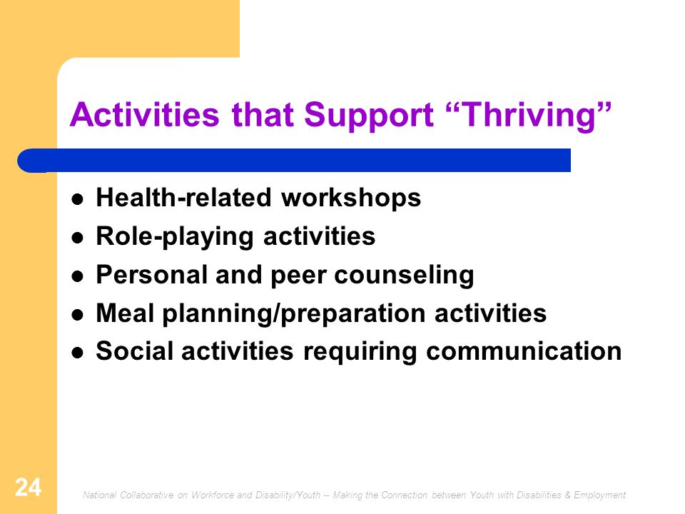 Activities that Support Thriving