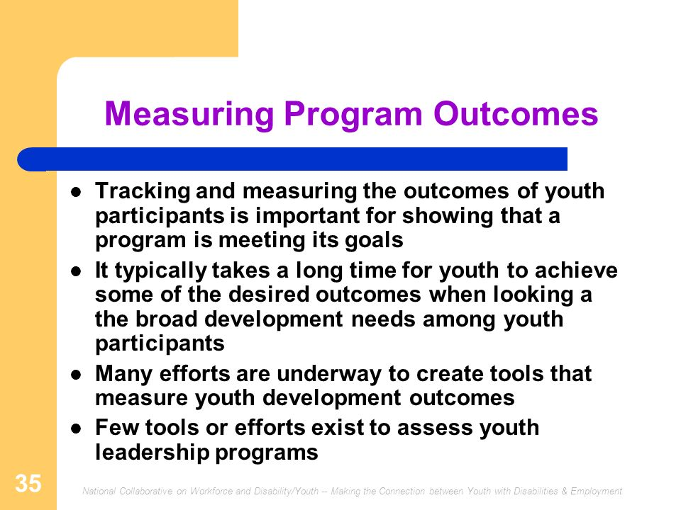 Measuring Program Outcomes