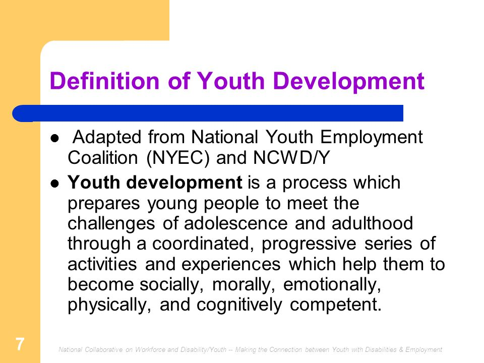 Definition of Youth Development