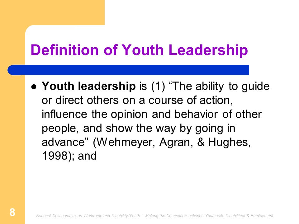Definition of Youth Leadership