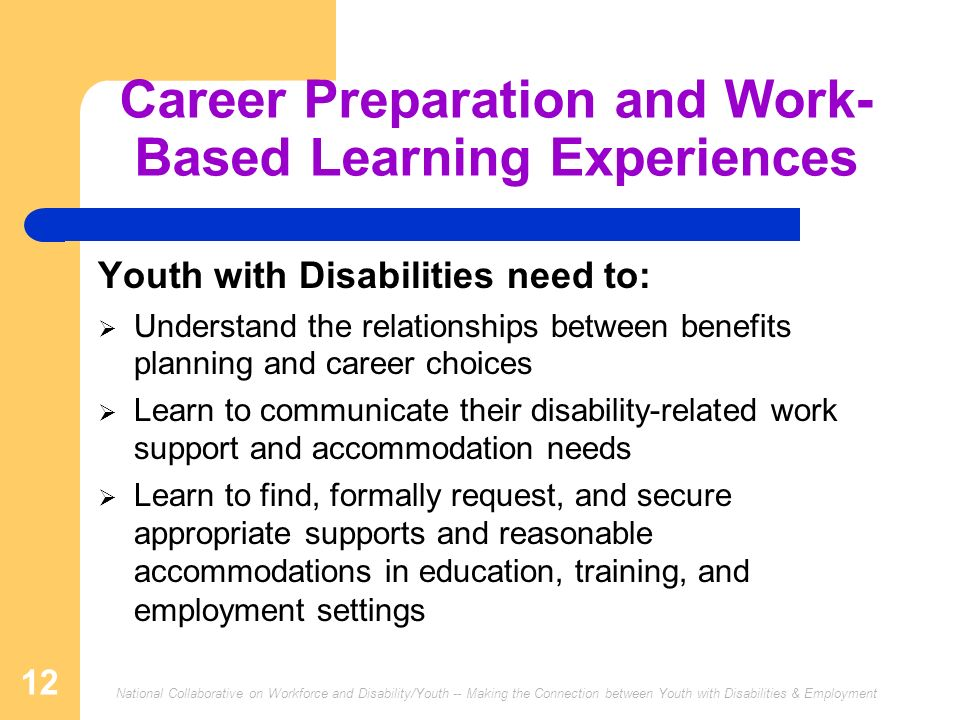 Career Preparation and Work-Based Learning Experiences