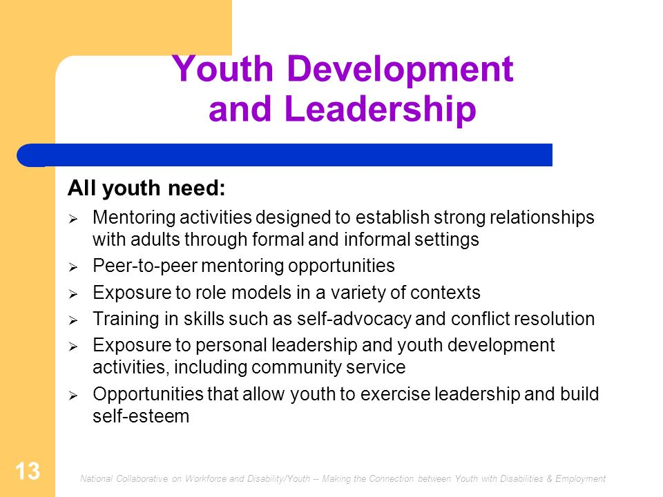 Youth Development and Leadership