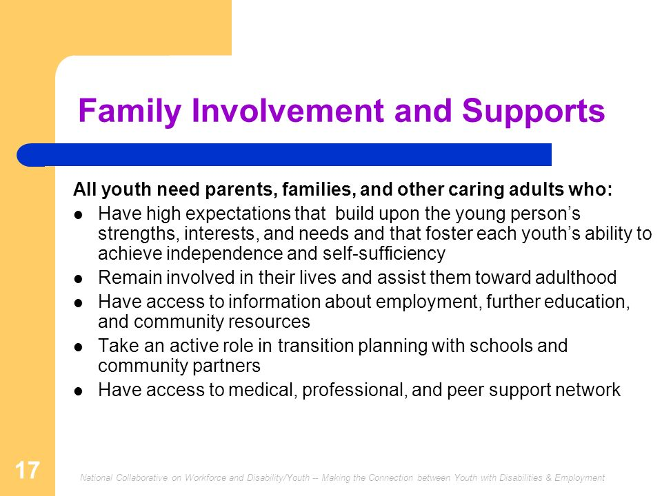 Family Involvement and Supports