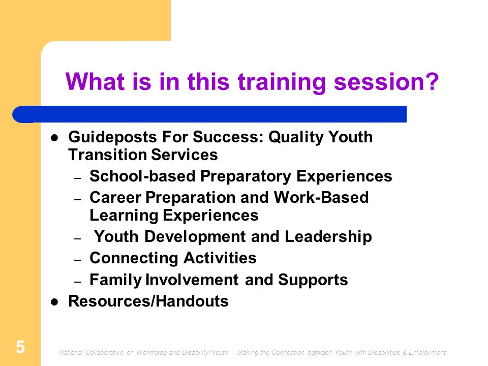 What is in this training session