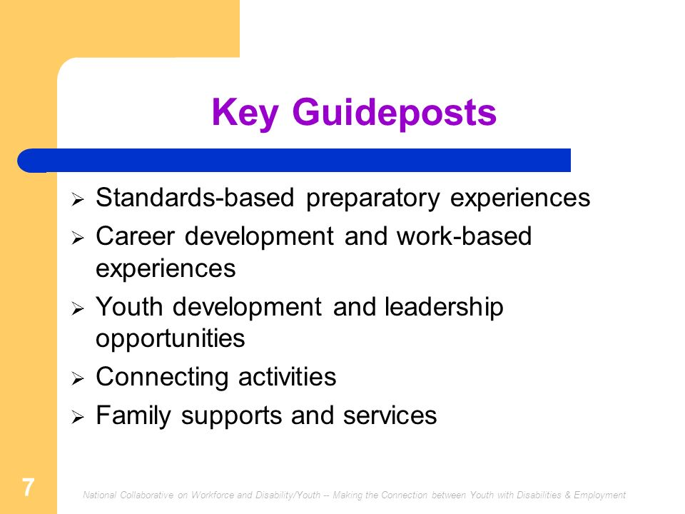 Key Guideposts Standards-based preparatory experiences