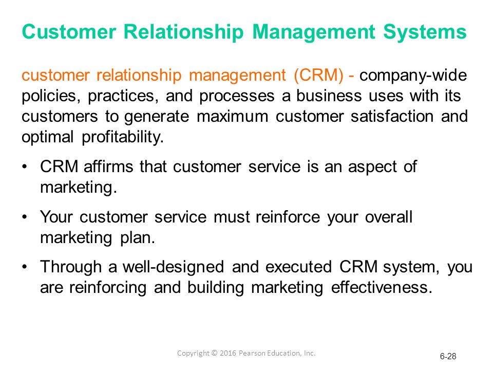 customer relationship management systems and processes that are efficient
