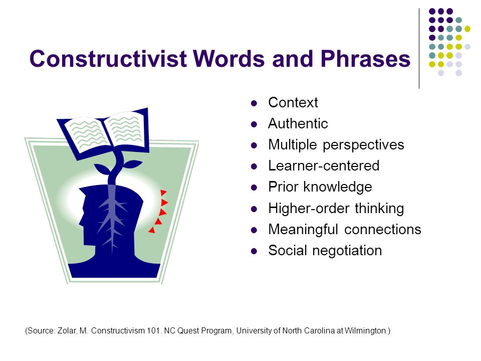 Constructivist Words and Phrases