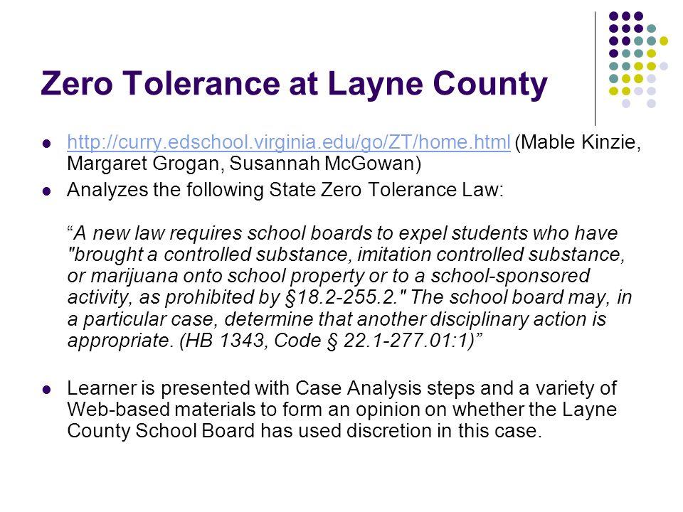Zero Tolerance at Layne County