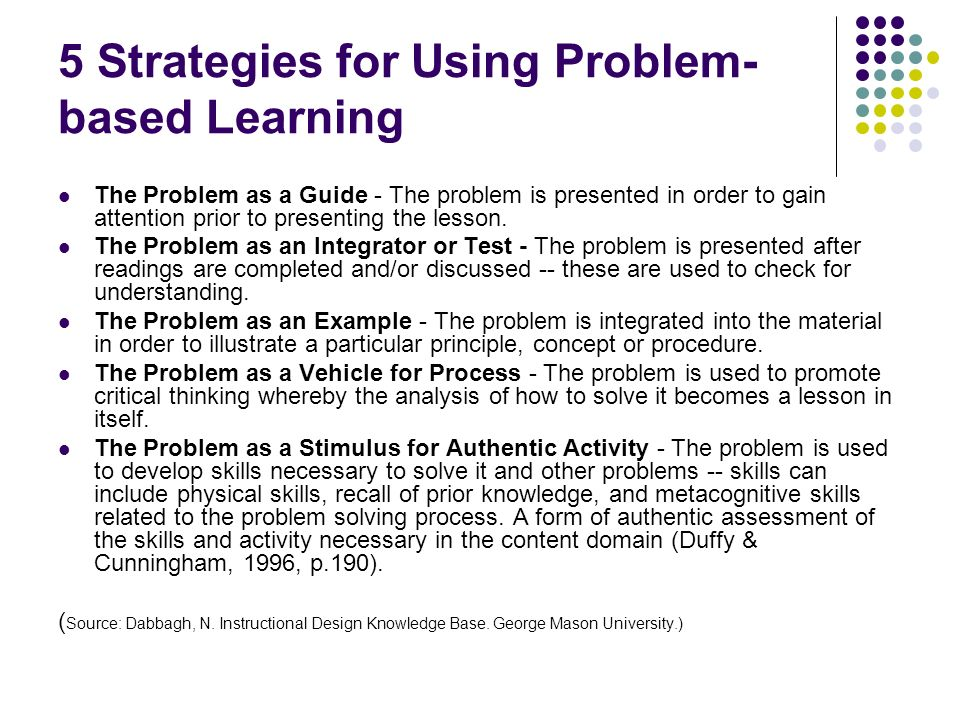 5 Strategies for Using Problem-based Learning