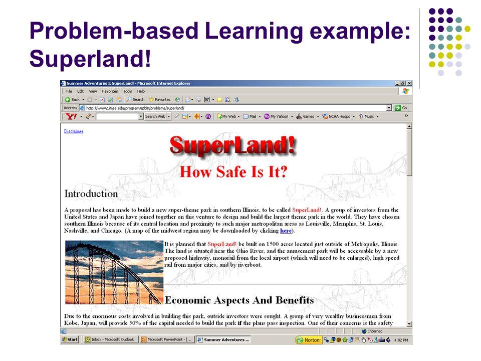 Problem-based Learning example: Superland!