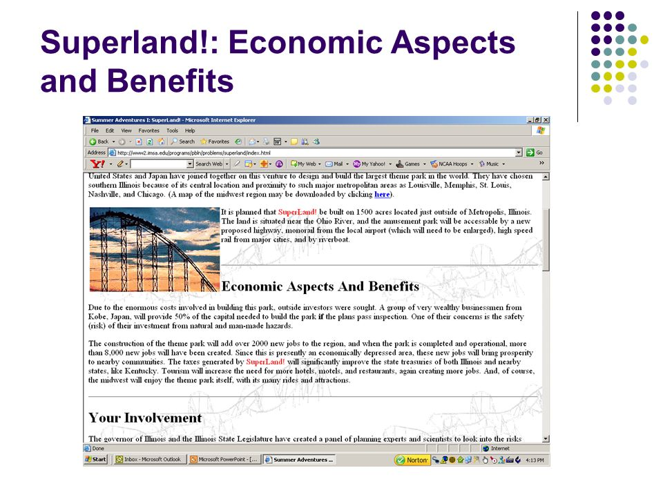 Superland!: Economic Aspects and Benefits