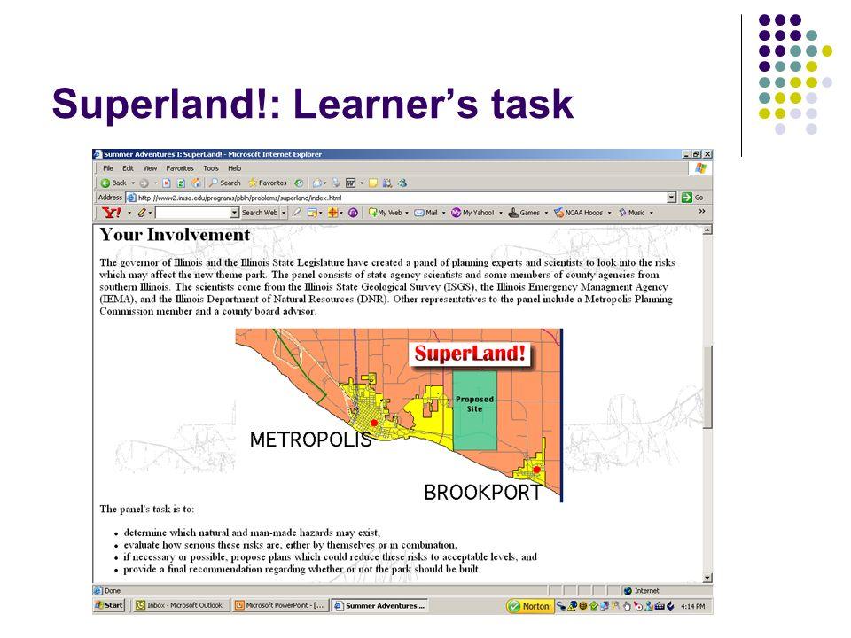 Superland!: Learner's task