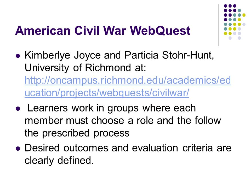 American Civil War WebQuest