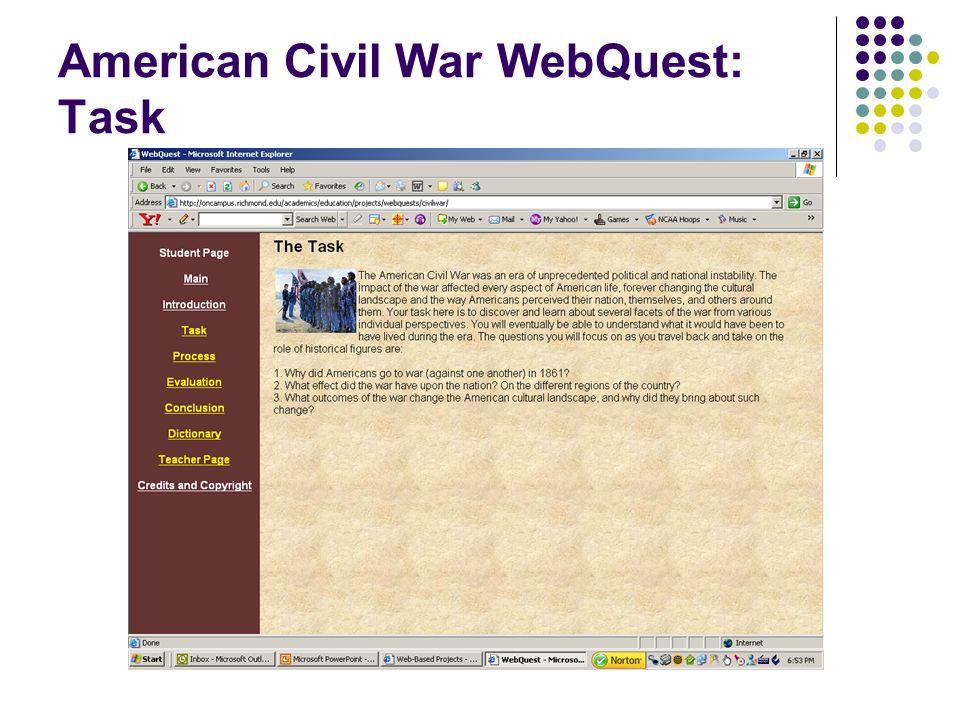 American Civil War WebQuest: Task