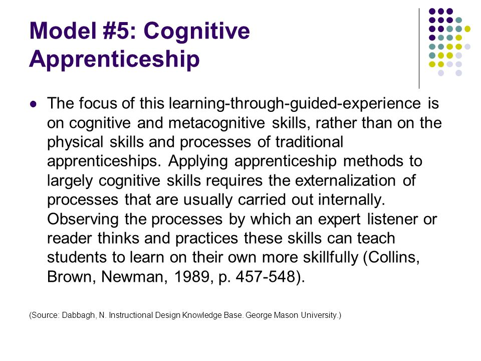 Model #5: Cognitive Apprenticeship