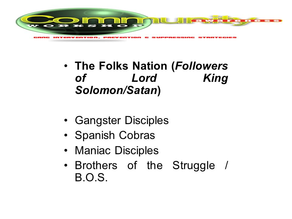 The Folks Nation (Followers of Lord King Solomon/Satan)
