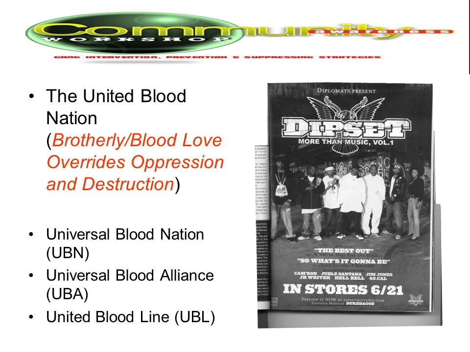 The United Blood Nation (Brotherly/Blood Love Overrides Oppression and Destruction)