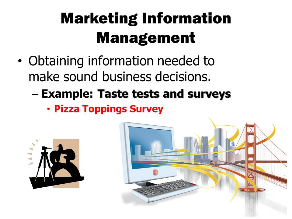 marketing information needs Marketing controls measuring and monitoring the marketing planning proces there is no planning without control marketing control is the process of monitoring the proposed plans as they proceed and adjusting where necessary.