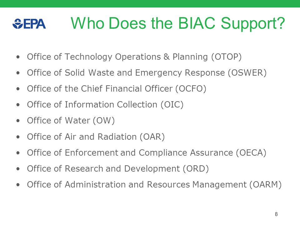 Who Does the BIAC Support