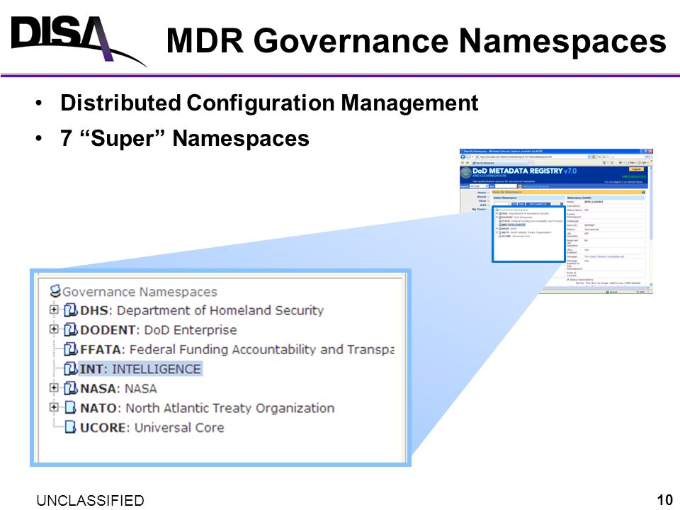 MDR Governance Namespaces